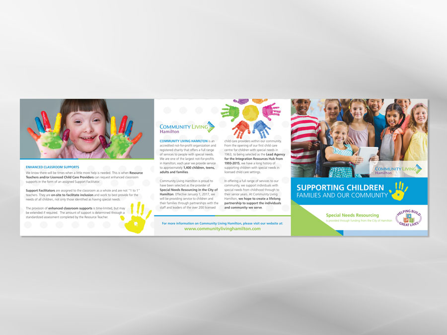 Community Living Hamilton brochure design inside 2
