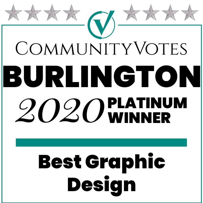 Provoke Media & Design | Awards - Community Votes 2020 Platinum Winner Burlington - Best Graphic Design