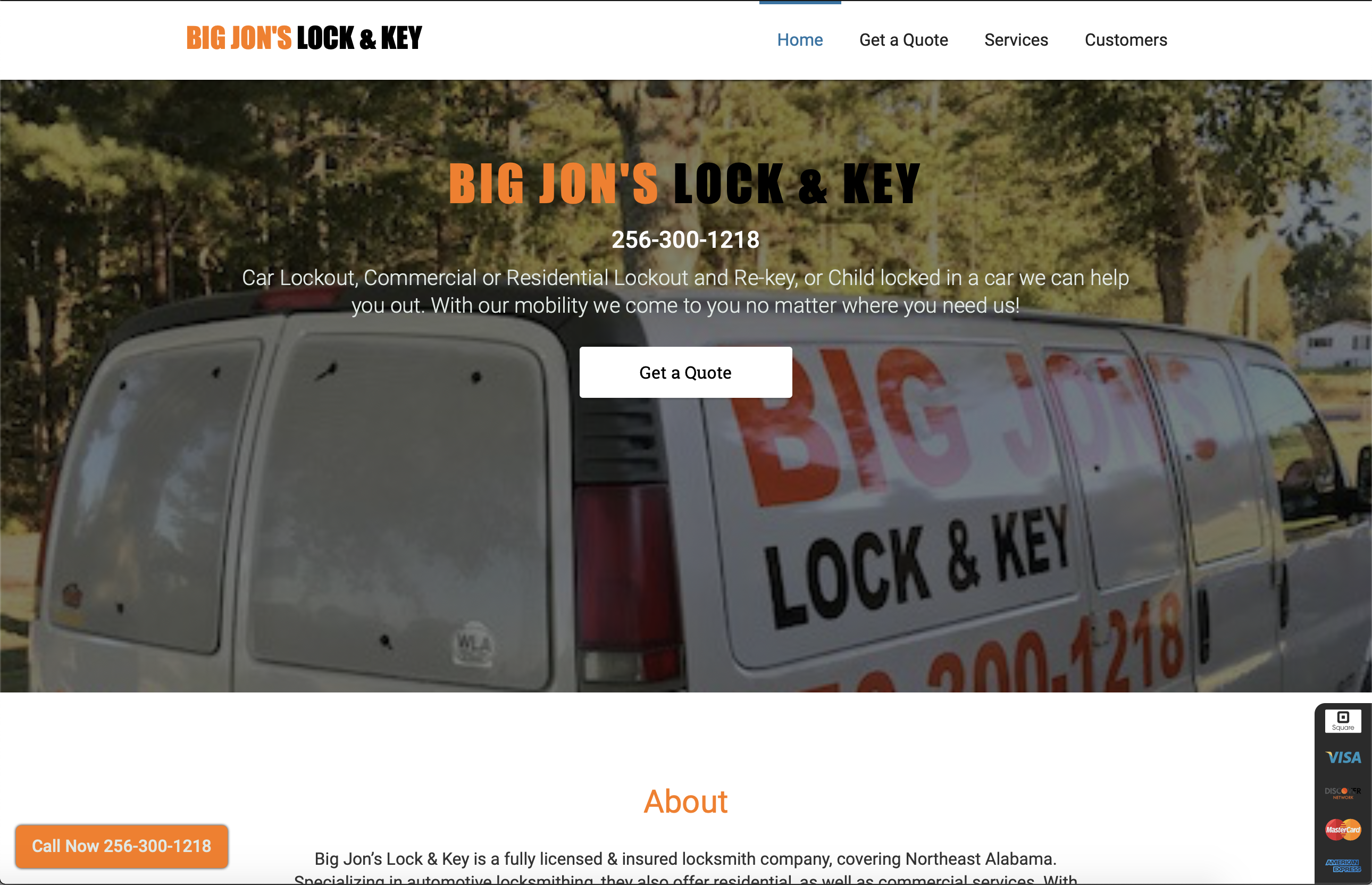 Big Jon's Lock and key