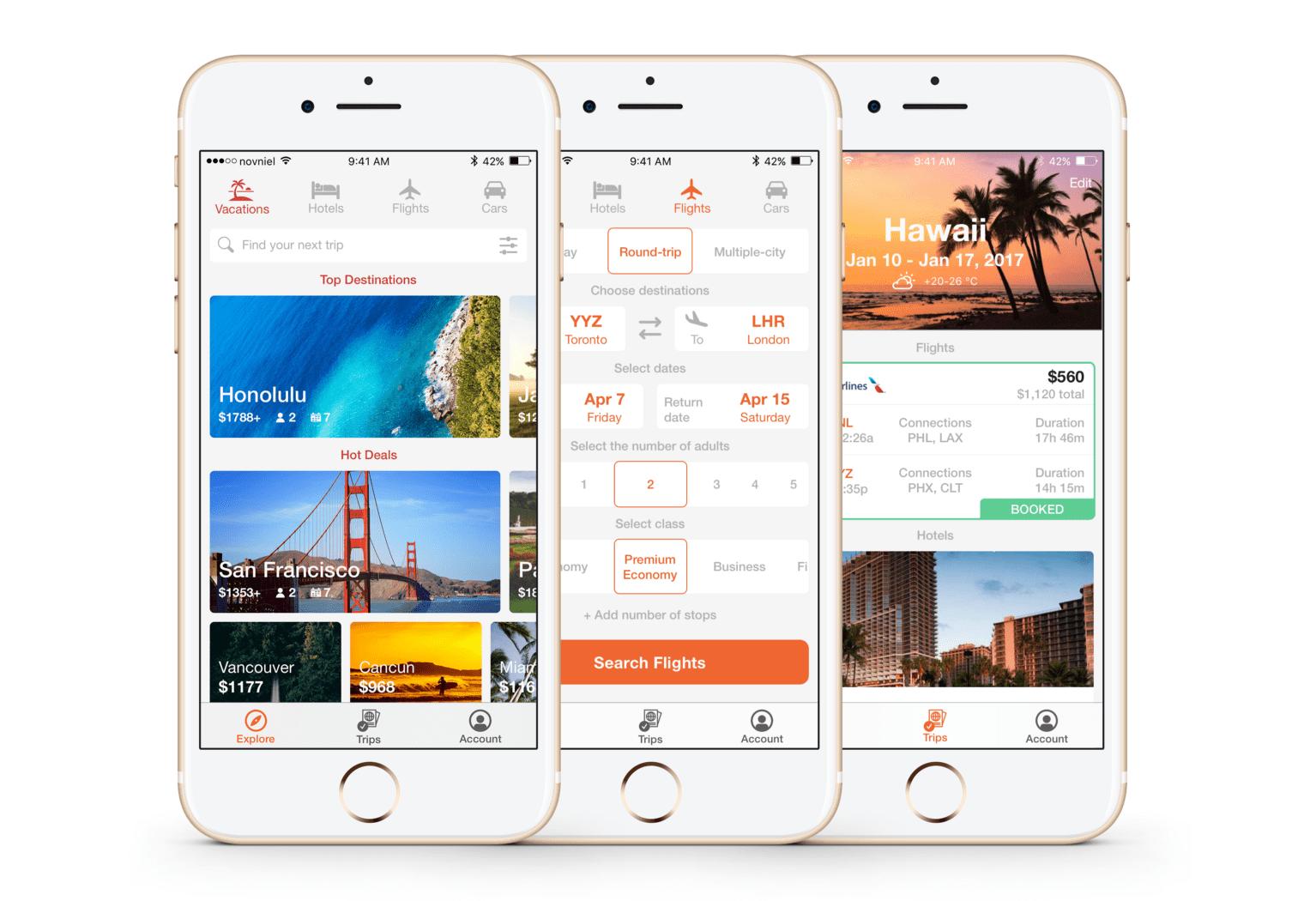 KAYAK app redesign concept