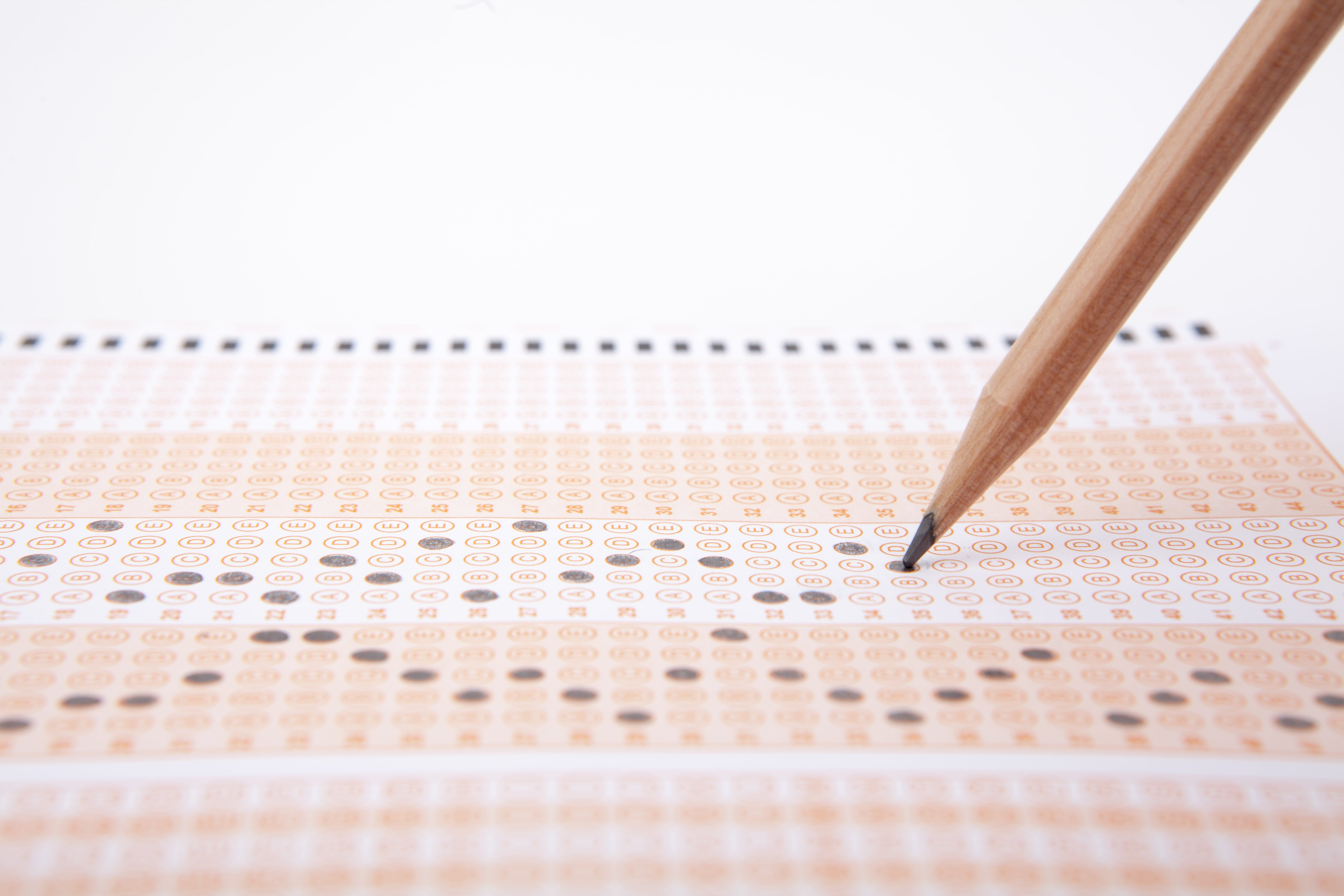 Picture of a scantron