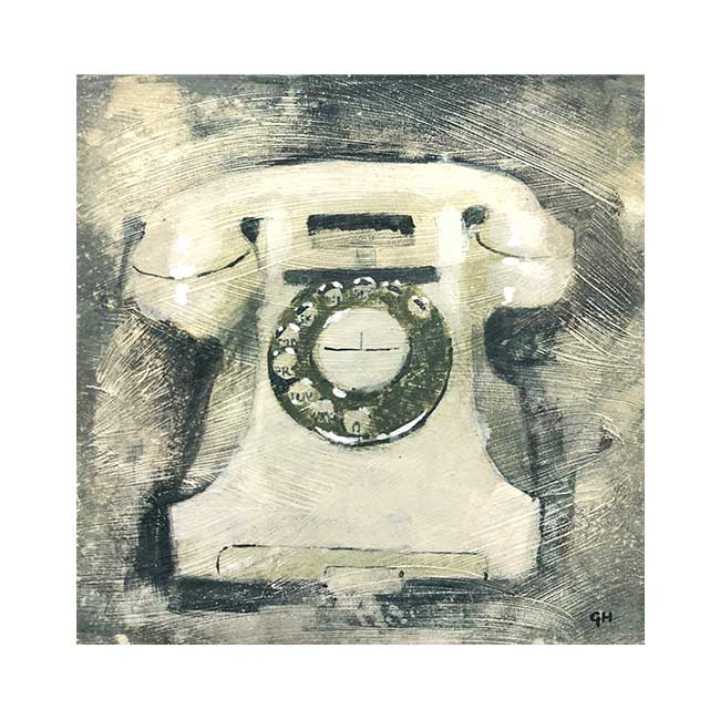 Illustration of an old phone by Garry Harper