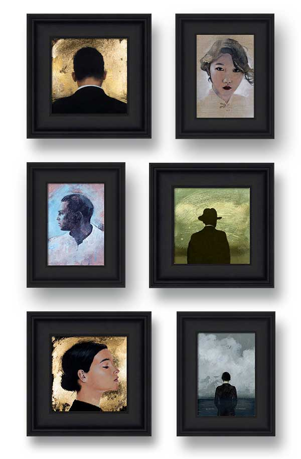 Collection of artist Garry Harper's small paintings