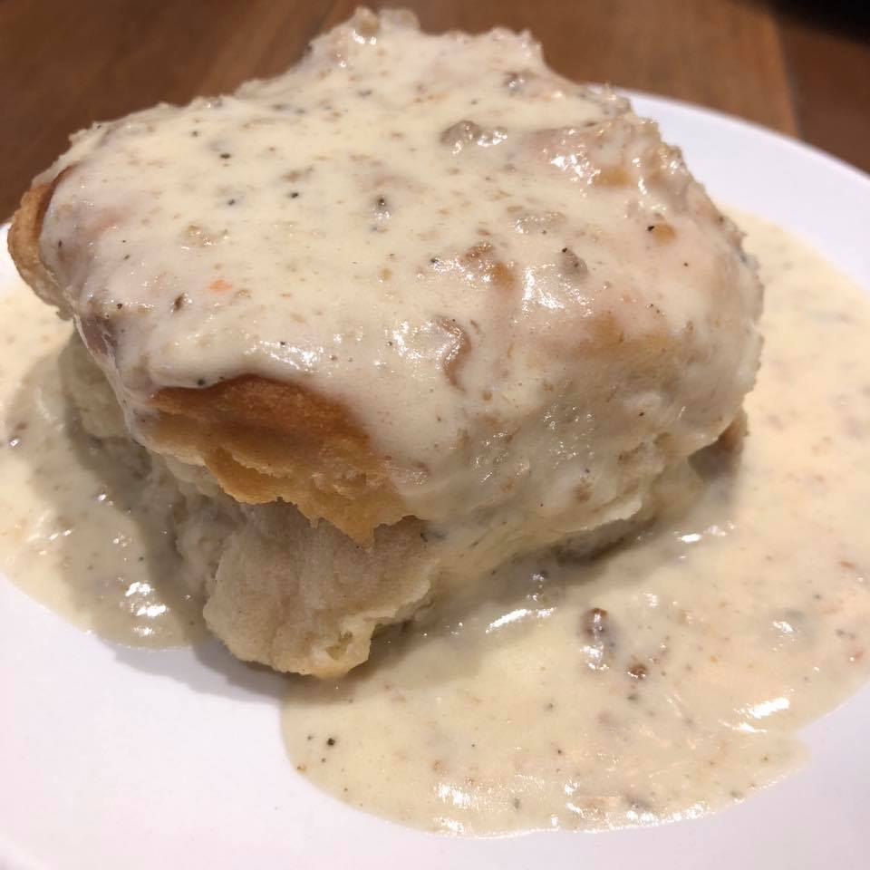 Biscuit and Gravy closeup at Dollywood's DreamMore Resort