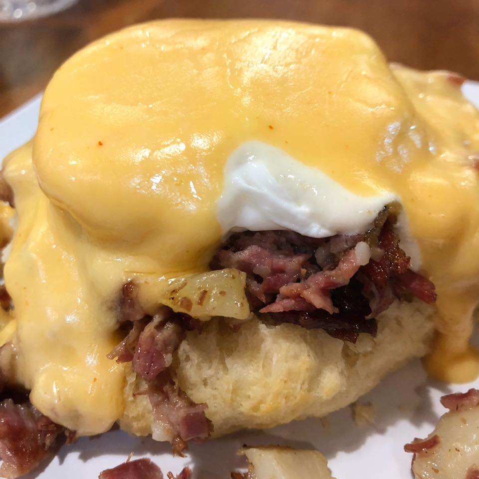 Corned Beef Bennie at The Ruby Slipper