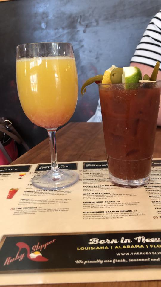 brunch cocktials at The Ruby Slipper