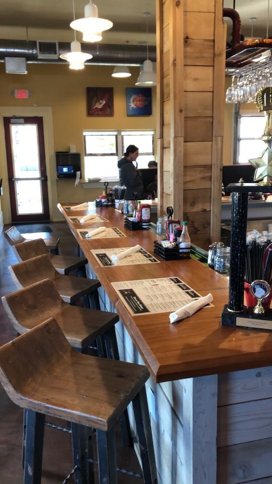 interior shot of bar at The Ruby Slipper