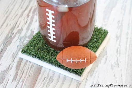 football decorated coaster