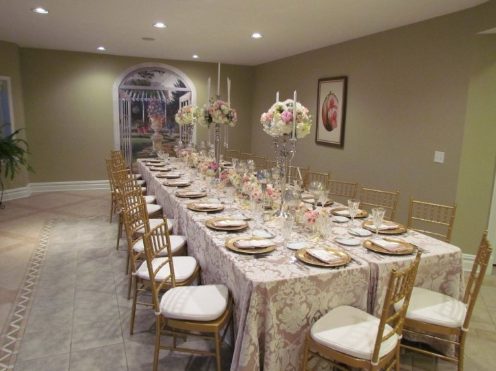 elegant wedding table at Maria's Love Point Bed and Breakfast