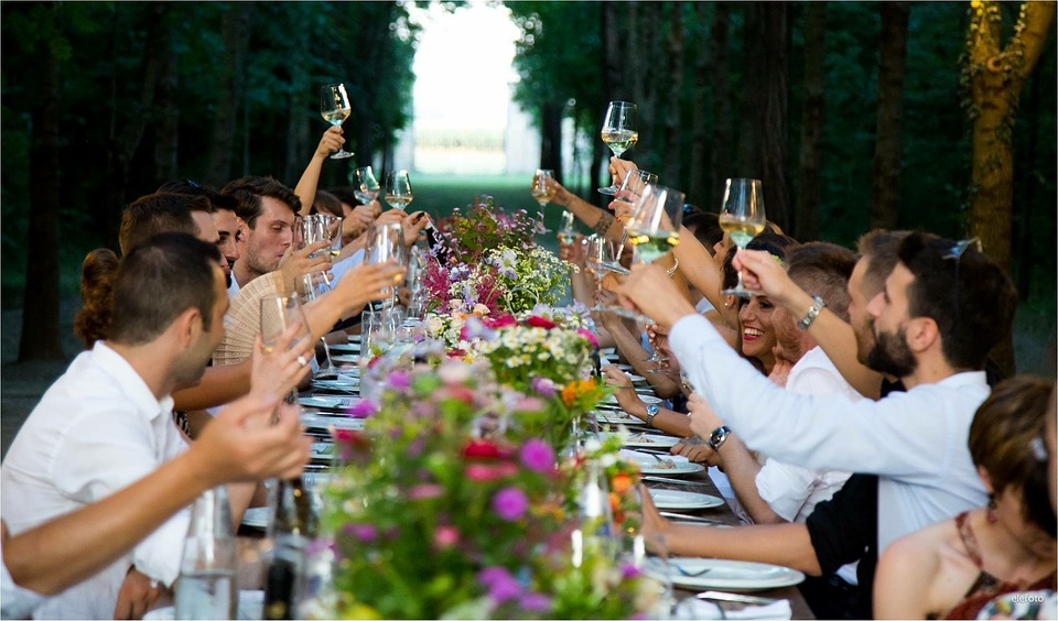 People, Male, Woman, Outdoors, Wedding Party, Marriage
