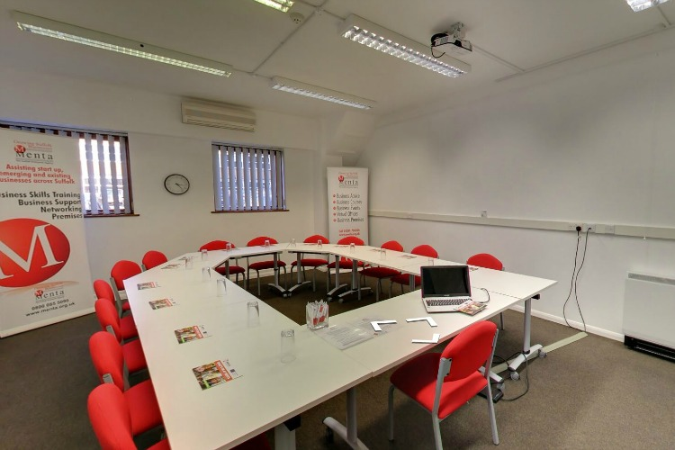 Classroom at Menta, Suffolk Enterprise Centre