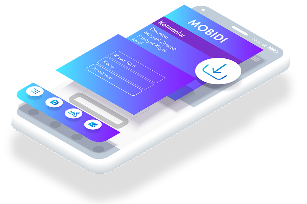 MOBIDI, Mobil Ekip Yönetimi ile çok çeşitli ihtiyaçlarınızı tek uygulama ile çözün.