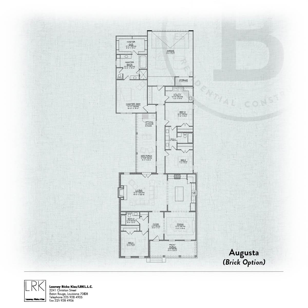 Augusta Brick Floorplan