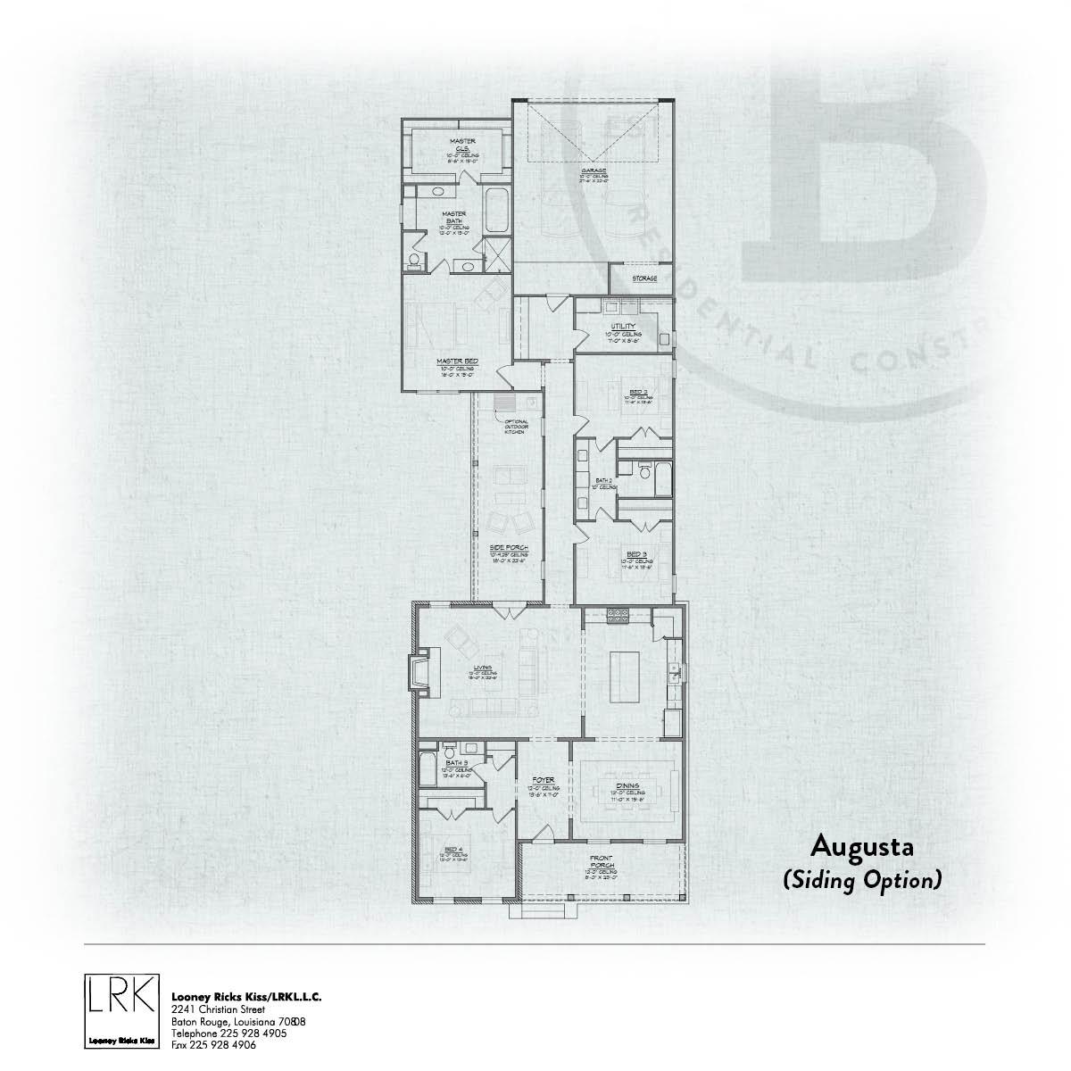 Augusta Siding Floorplan