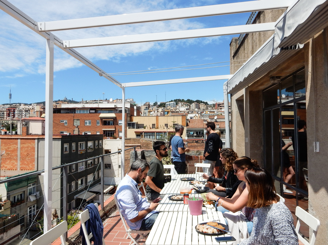 betahaus Barcelona Coworking Space Terrace Lunch