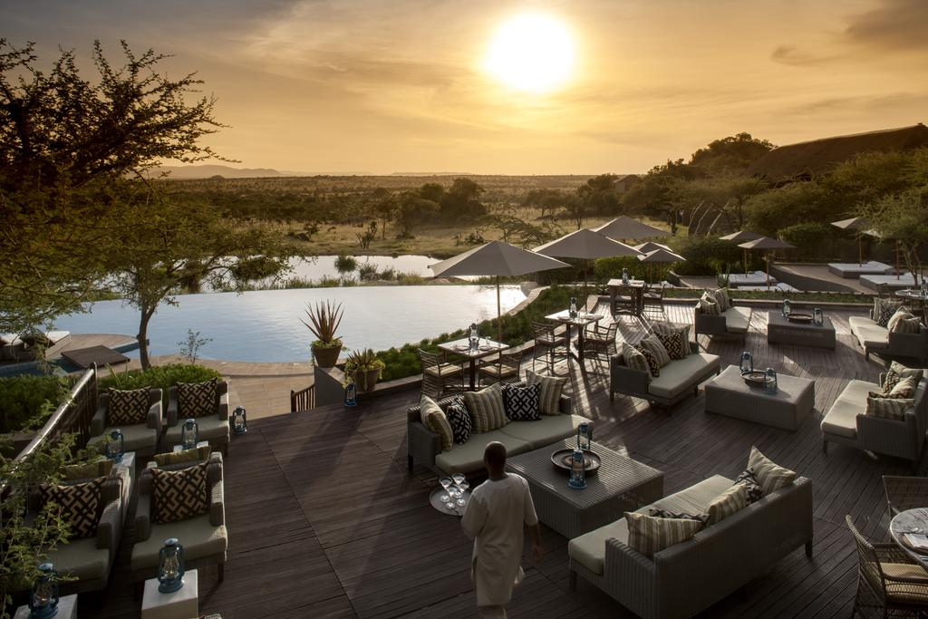 This luxury hotel is set within the Serengeti National Park.