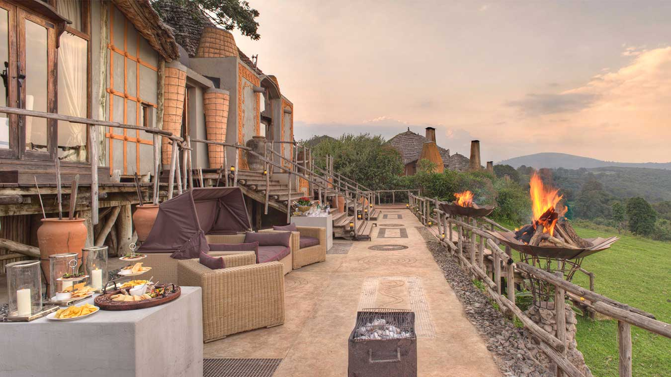 The Ngorongoro Crater Lodge is without doubt one of the most architecturally spectacular safari lodges in Africa.
