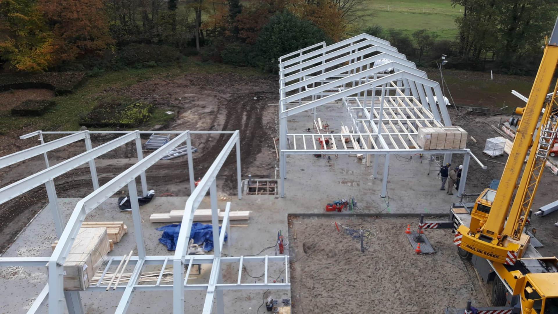 Nieuwbouw Villa met stalen constructie