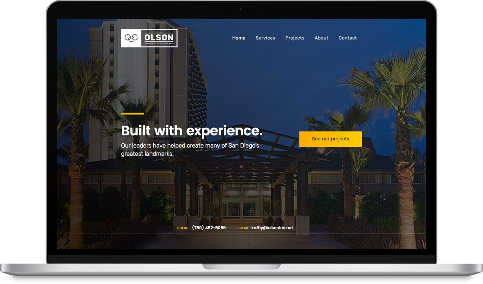 Web design by Paul Parson | Olson Construction Company