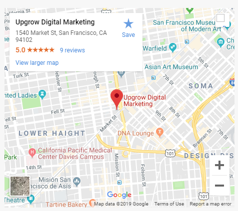 Google Maps Listing Embedded Example