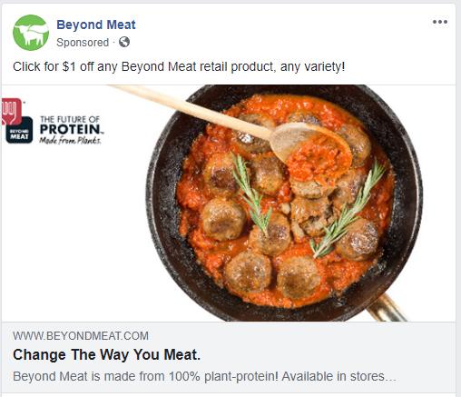Vegan Facebook Ad