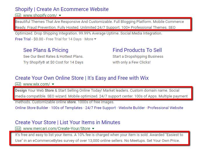 google ad copies