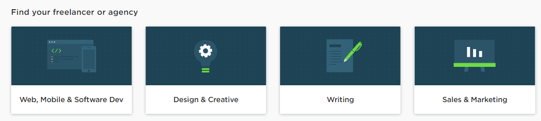 Visual Navigation - Images and Icons - Upwork Example