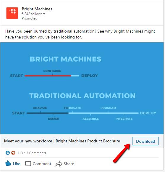 LinkedIn Lead Form - Example