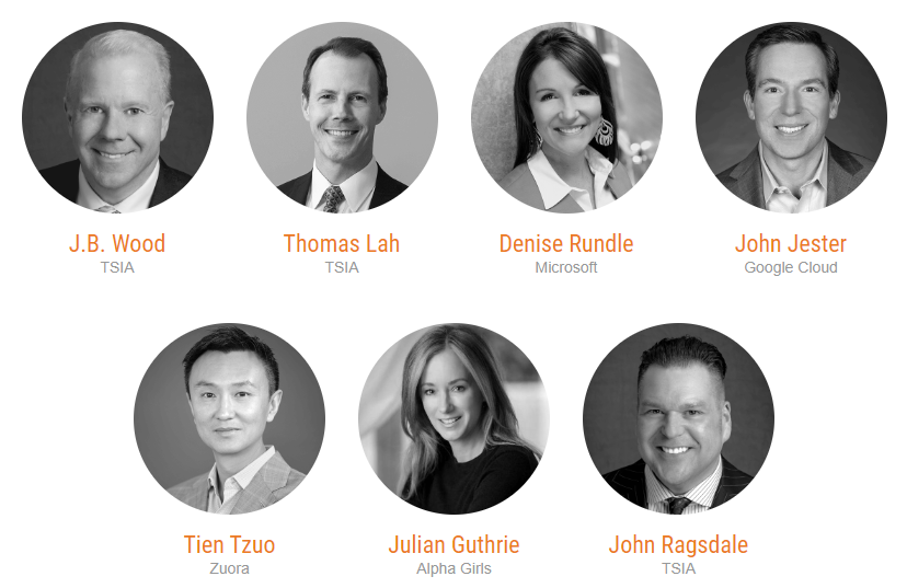 Speakers for the TSIA conference