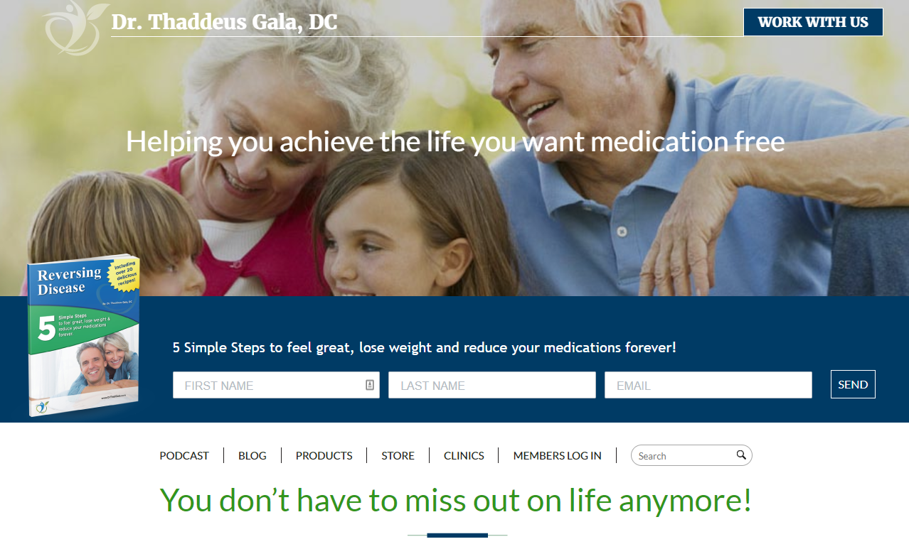 Dr Gala Website Example