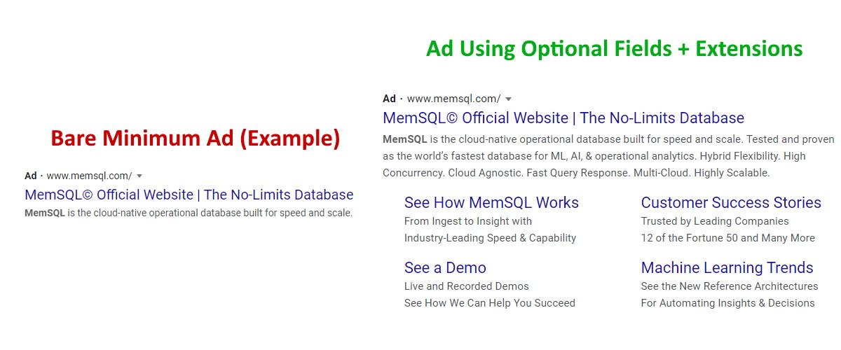 Google Ads Optional Fields