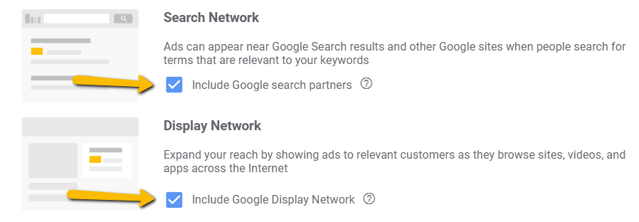 Exclude Search & Display Network on Google Ads Campaigns