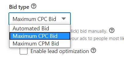Example of bid type
