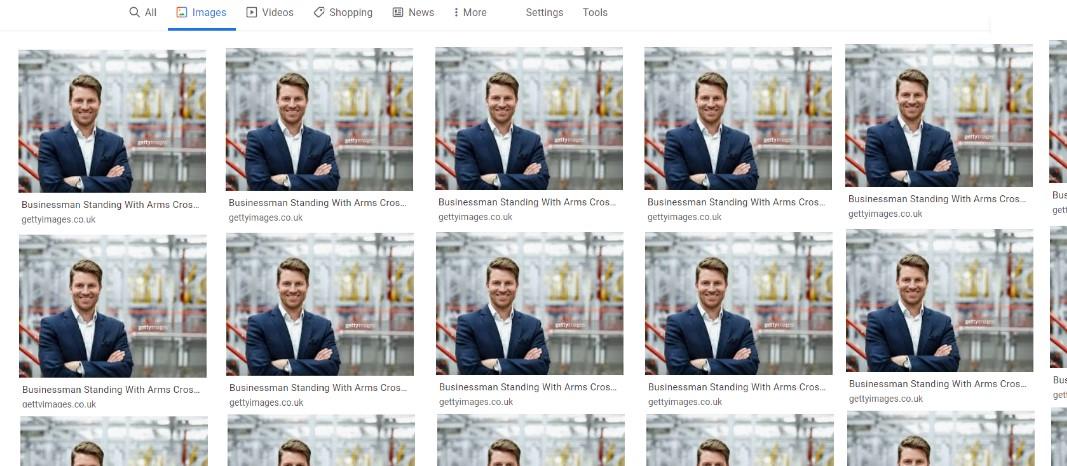 Example of photos on iStock