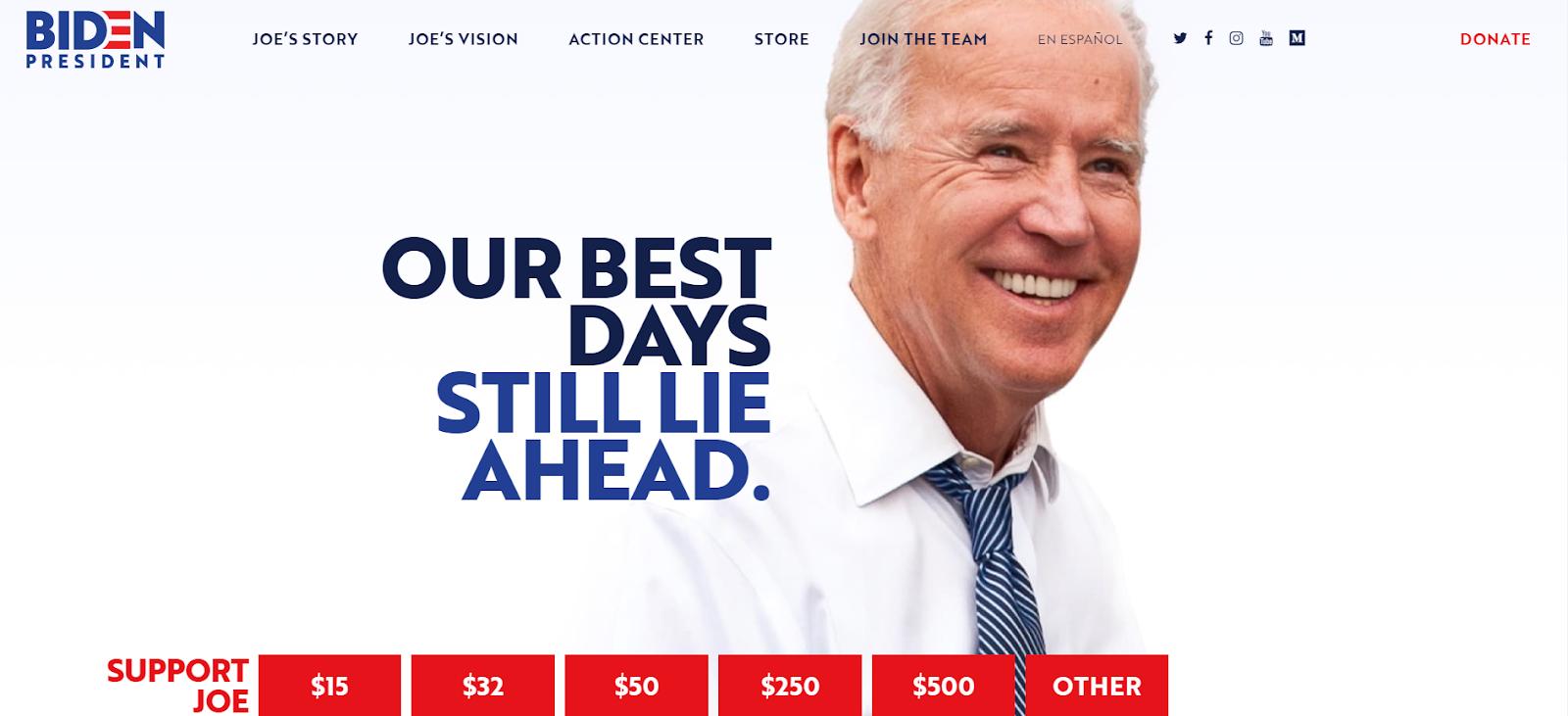 Joe Biden Website