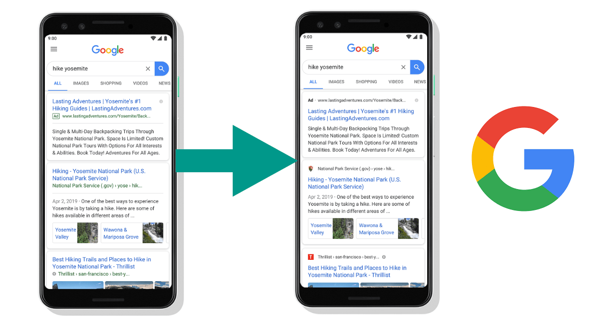 Google Mobile Search Update