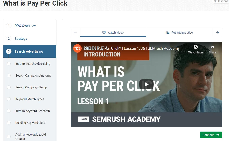 SEMRush PPC Course