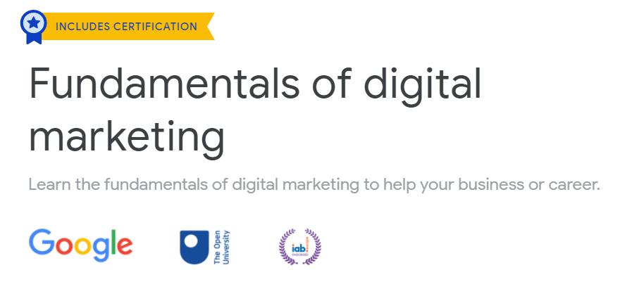 Fundamentals of digital marketing skillshop