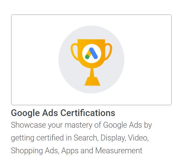 google ads certifications