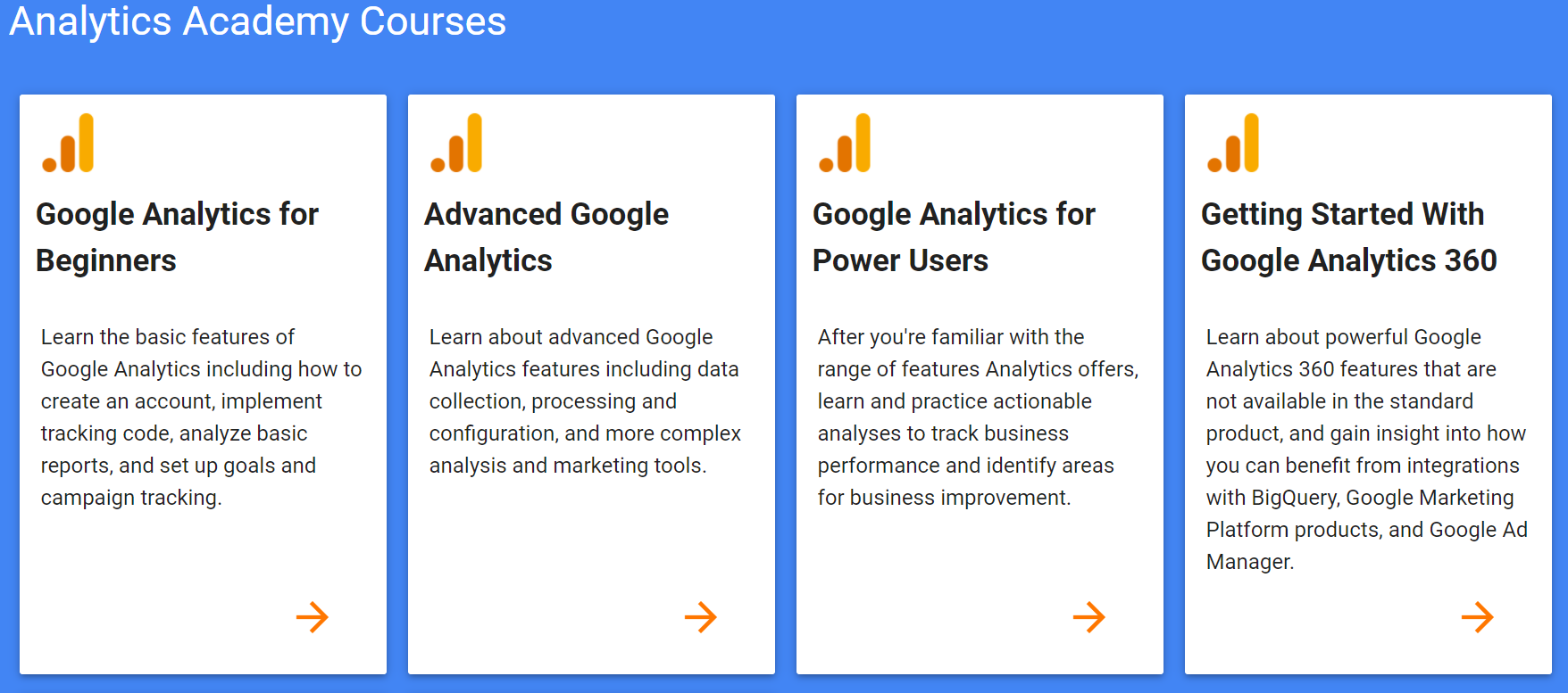 google analytics certifications