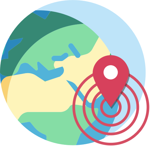 icon of globe and outbreak marker