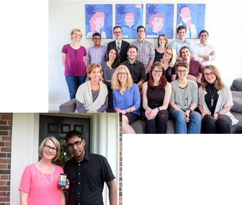 team photo of the Ottawa mHealth Lab