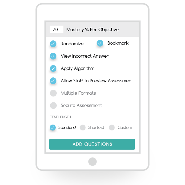 Customized Assessments for Your State Standards