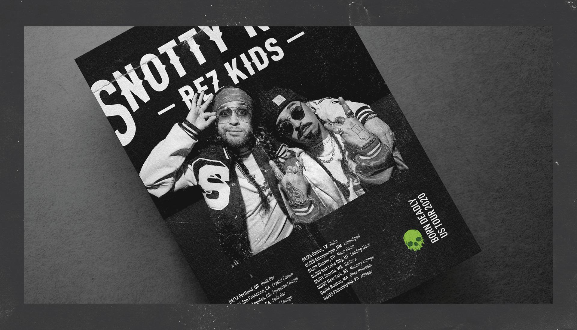 Snotty Nose Rez Kids | Born Deady Tour Announcement Poster