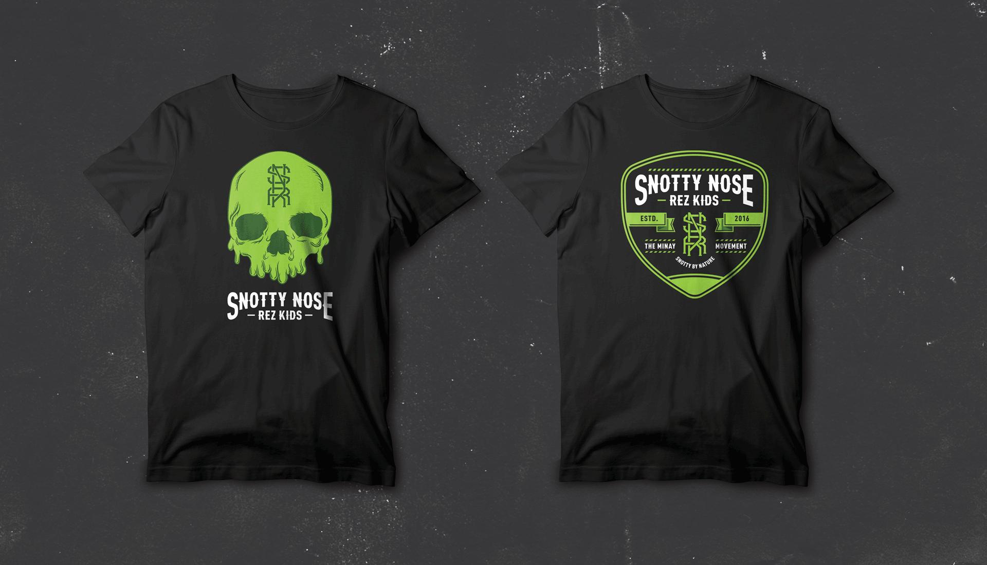 Snotty Nose Rez Kids | T-shirt Merch Design 2 and 3