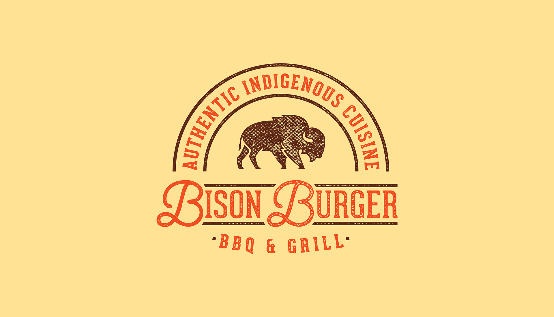 Bison Burger BBQ & Grill | Secondary Logo, Authentic Indigenous Cuisine