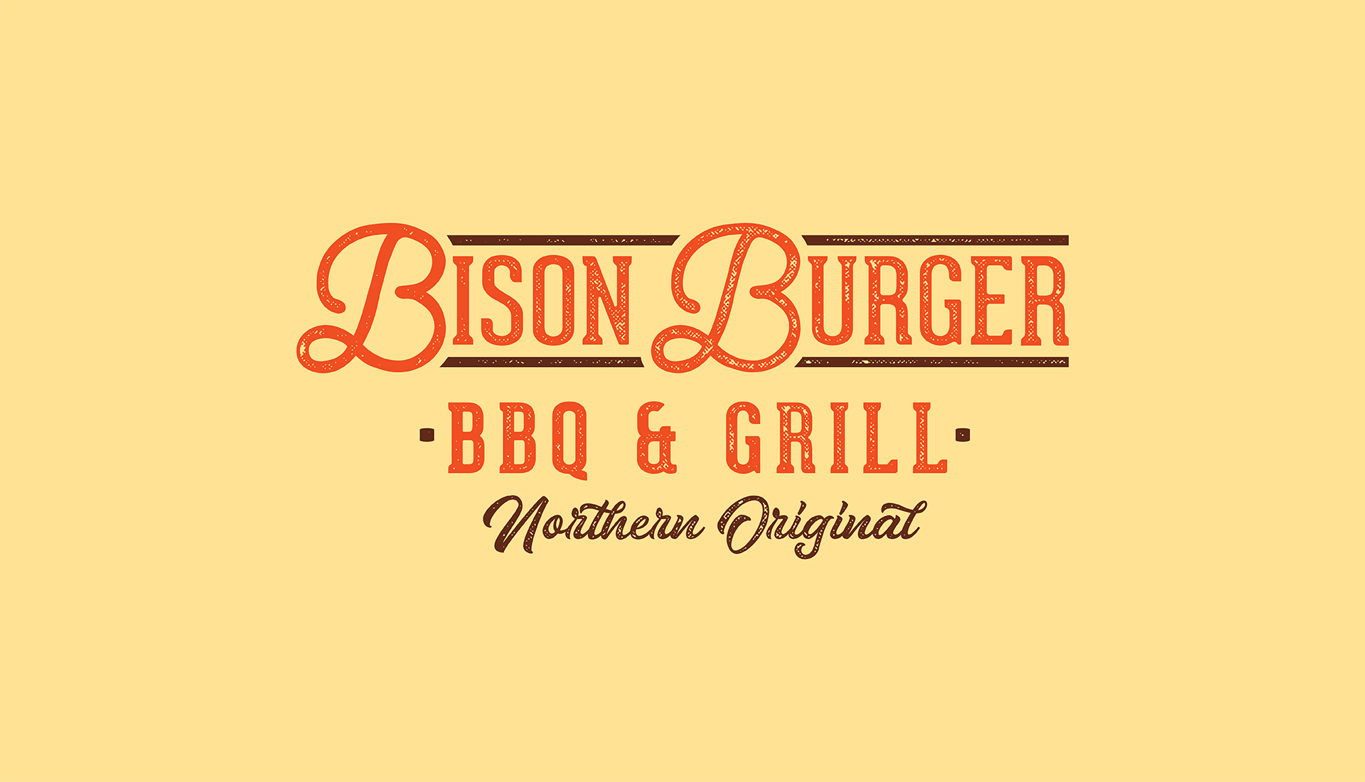 Bison Burger BBQ & Grill | Tertiary Logo, Authentic Indigenous Cuisine, Northern Original