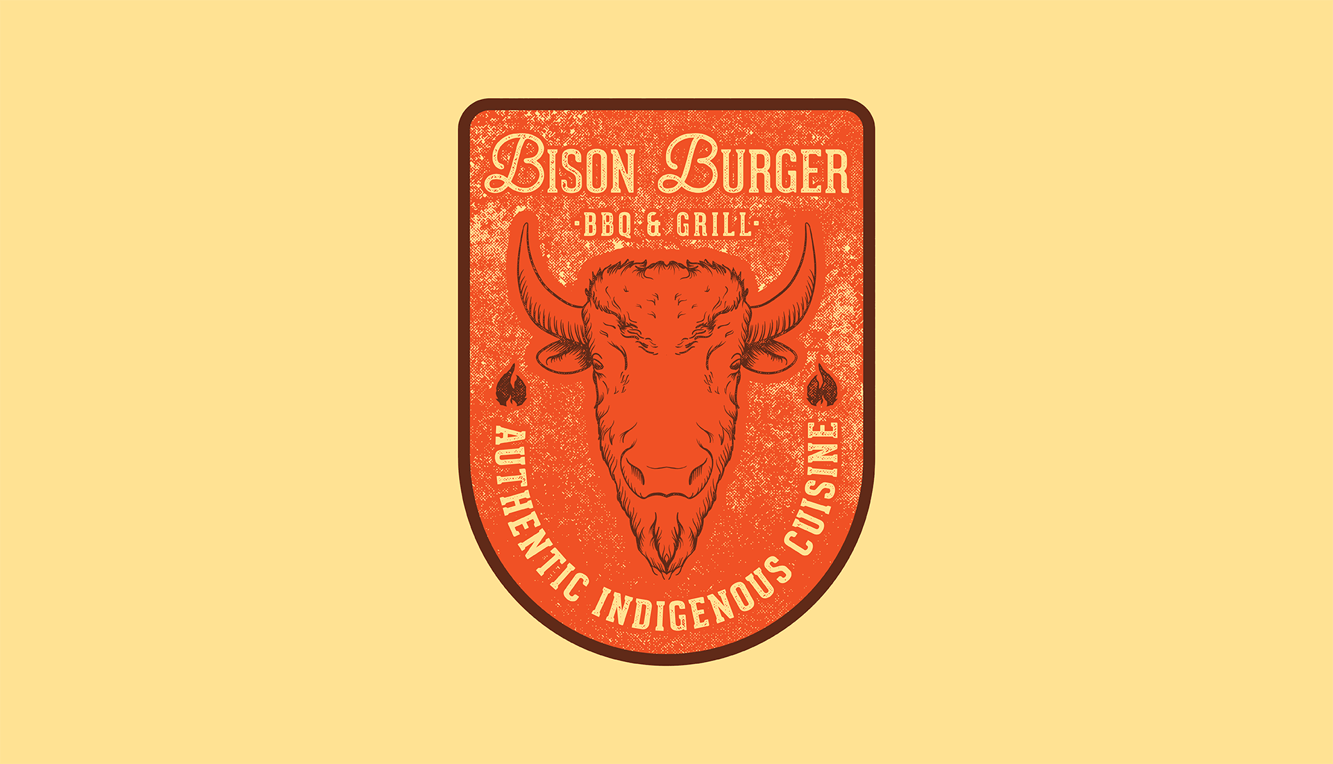 Bison Burger BBQ & Grill | Secondary Badge, Authentic Indigenous Cuisine