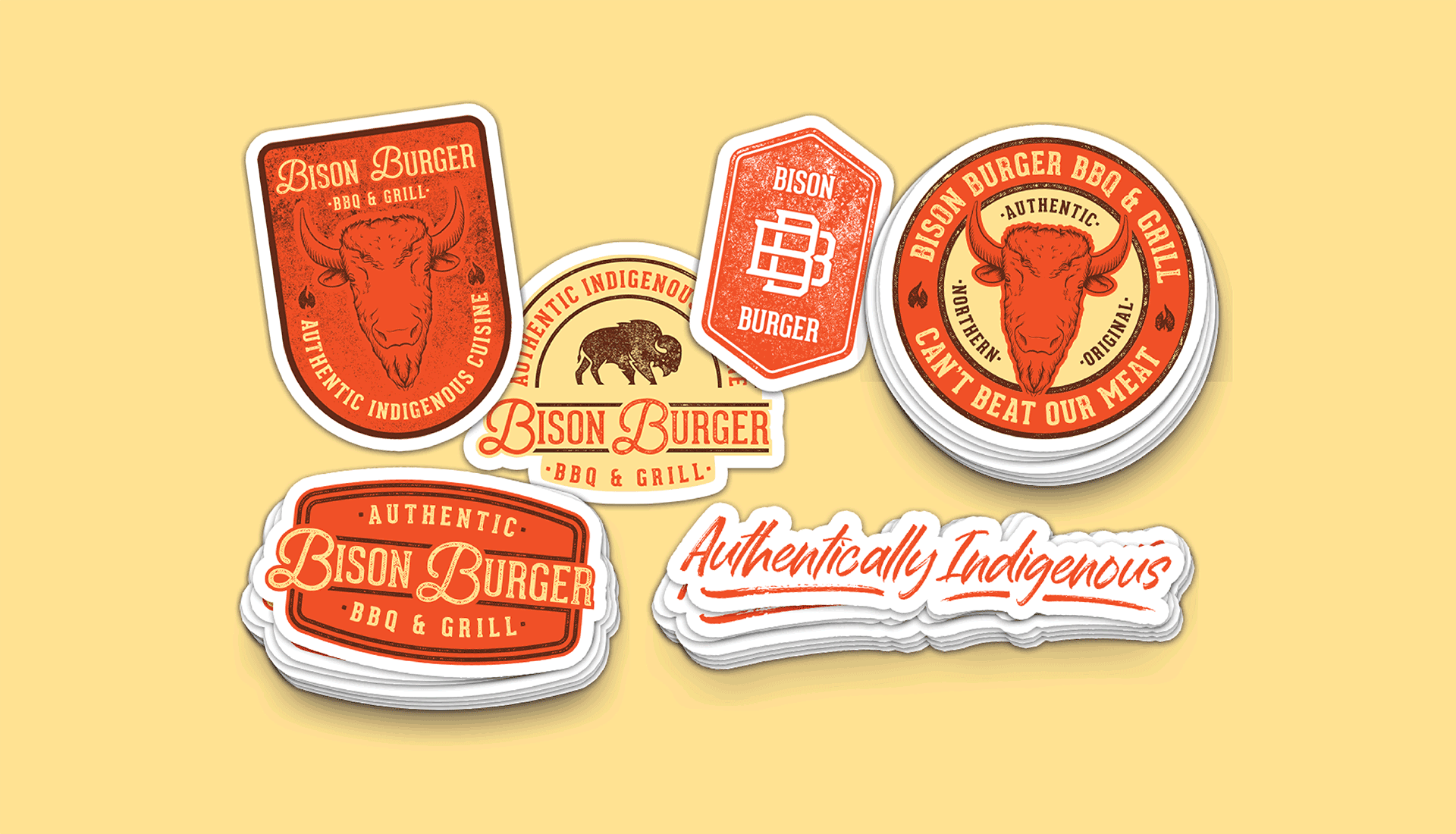 Bison Burger BBQ & Grill | Stickers