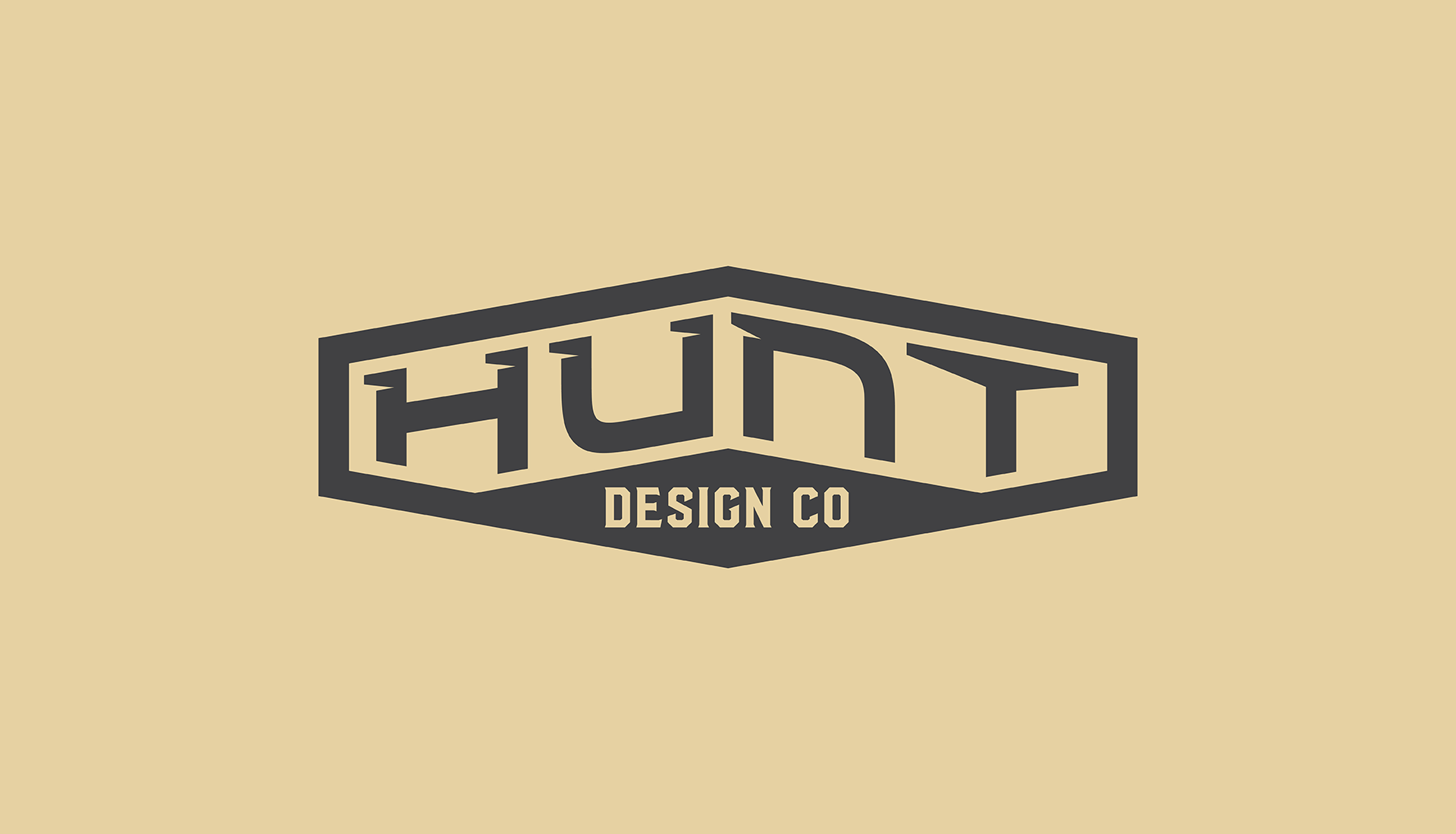 Hunt Design Co.   Tertiary Logo Design Concept